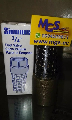 cheque 3/4 marca simmons.