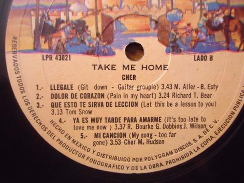 cher / take me home vinyl lp acetato