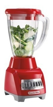 cherry: licuadora 10 vel vaso plastico y plancha capri rojo