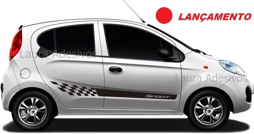 Adesivo Lateral Chery New Qq Nq1 Sport Peças Acessórios La - R$ 55 ...