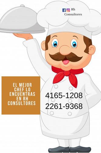 che´s y cocineras a tu disposición