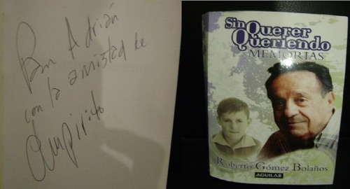 chespirito libro autografiado
