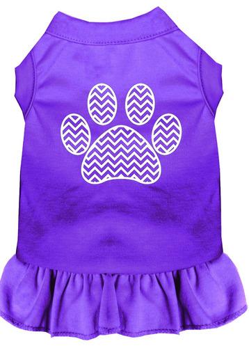 cheurón pata pantalla impresión vestido púrpura xxl (18)