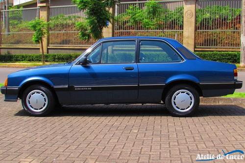 chevette se 1987 azul búzios - original - impecável- confira