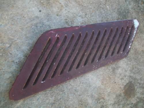 chevette tubarão 1974 - 1 grade lateral traseira de ferro