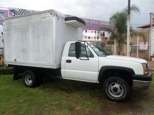 chevrolet 3500 caja seca con termo 3.5 toneladas