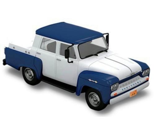 chevrolet alvorada 1962 1:43 carros miniaturas réplicas