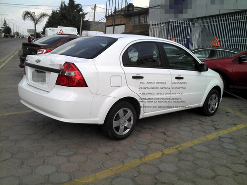 chevrolet aveo 2016 ls automatico 4 cil eng _$ 27,600