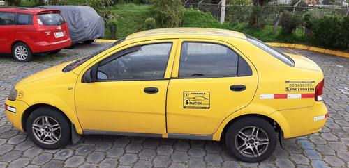 chevrolet aveo activo motor 1.6 (taxi con puesto)