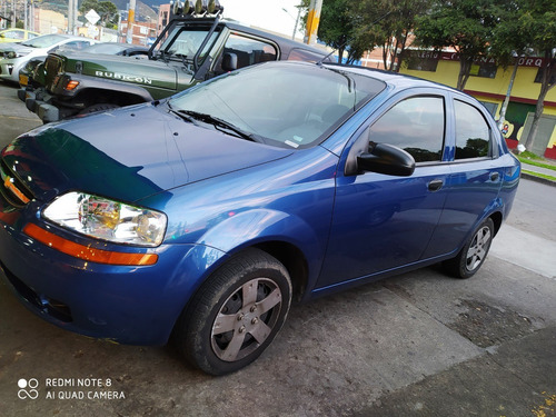 chevrolet aveo family motor 1.5 2012 azul noruega 4 puertas