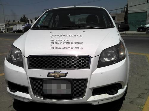 chevrolet aveo ls 2012 std 4 cil sedan eng $ 23,600