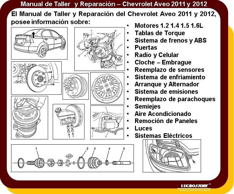 Chevrolet Aveo Manual Taller Reparacion Diagramas 10 13 Ofer Bs