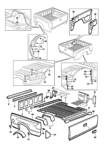 chevrolet blazer s10 + manual de despiece x mail