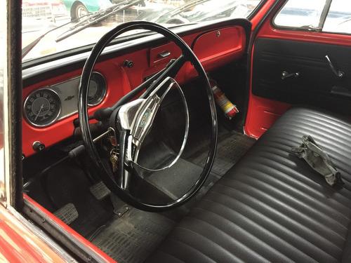 chevrolet c - 14 - placas preta restaurada - vermelha