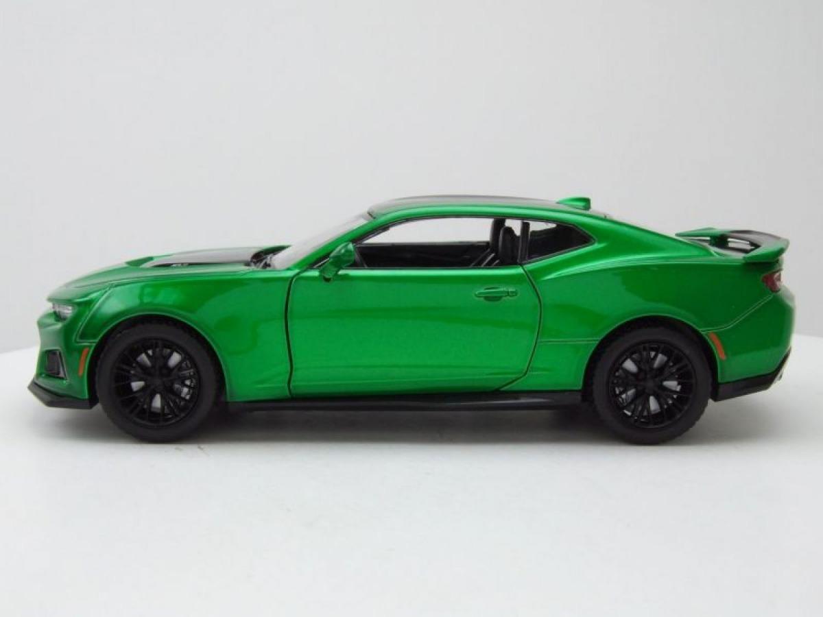coche modelo 1:24//Motormax Chevrolet Camaro zl1 2017 verde metalizado