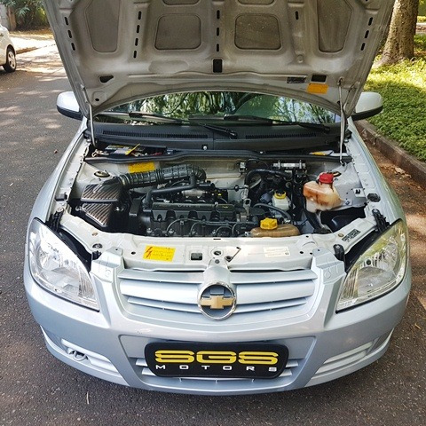 chevrolet celta 1.0 spirit flex power 5p 2010 prata completo