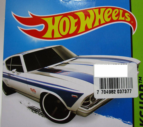 chevrolet chevelle ss 1969  die cast 1/64 hot wheels t6