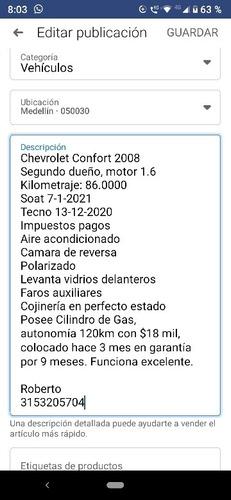 chevrolet chevy confort 1.6 full