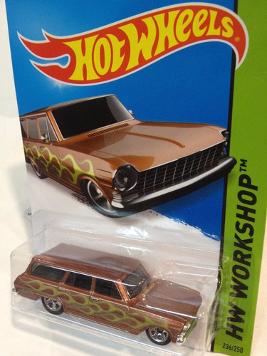 chevrolet chevy nova escala 1/64 coleccion hot wheels 7cm