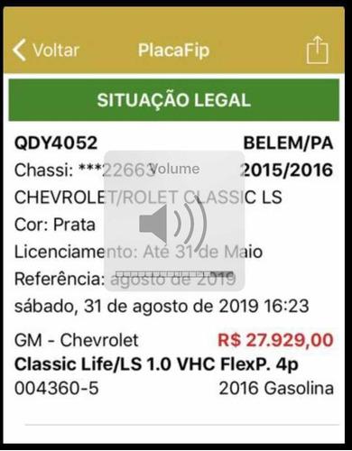 chevrolet classic 2016 1.0 ls flex power 4p