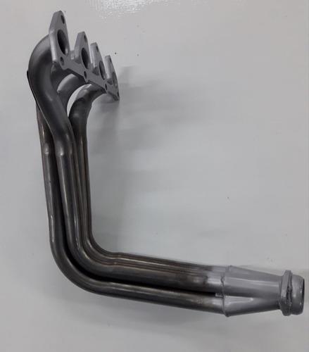 chevrolet corsa - múltiple en caños de  acero inoxidable (bridas en hierro) - cañossilen