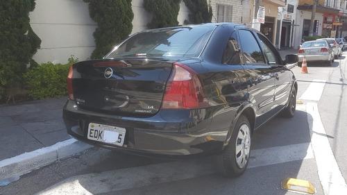 chevrolet corsa sedan 1.4 premium  2010 preto completo