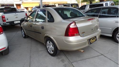 chevrolet corsa sedan maxx 2007/2008 1.4 completo c/gnv bege