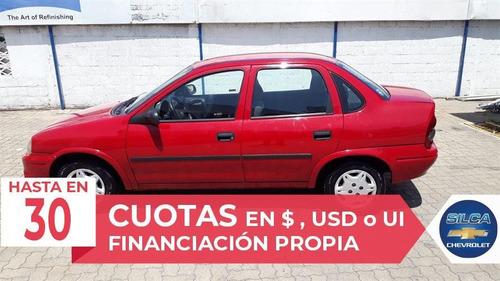 chevrolet corsa super 1.6 2008 rojo 4 puertas