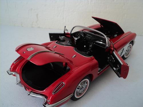 chevrolet corvette 1958 auto a escala de colección