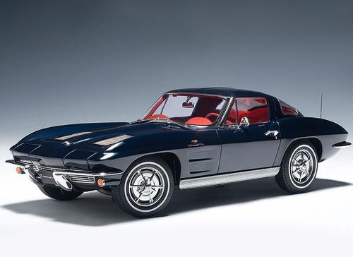 chevrolet corvette 1963 coupe escala 1:18 autoart  71181