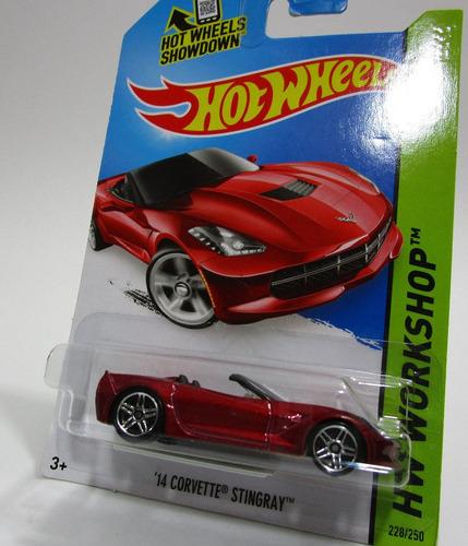 chevrolet corvette stingray escala 1/64 coleccion hot wheels