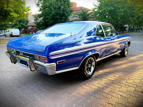 chevrolet coupe chevy ss plus 1976 impecable azul