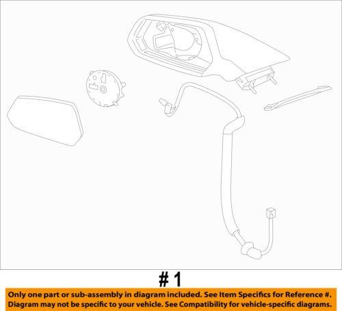 Chevrolet GM OEM 10-15 Camaro Outside Mirrors-Door-Mirror Assembly Left 22762487