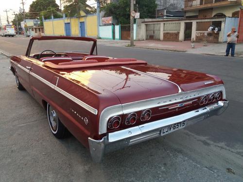 chevrolet impala conversível 1964 doc em dia hot raridade