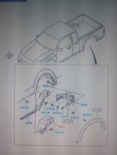 chevrolet luv dmax 3.5  guardabarro/ paso rueda traseros