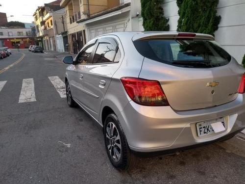 chevrolet onix  1.4 ltz aut 5p 2015 prata completo