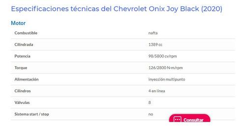 chevrolet onix joy 2020 5 puertas 1.4 n 98 cv junio 2020