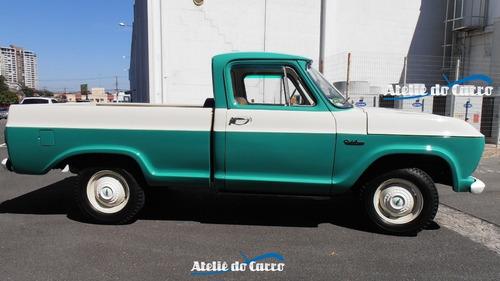 chevrolet pick up c-14 1966  nova e original em detalhes