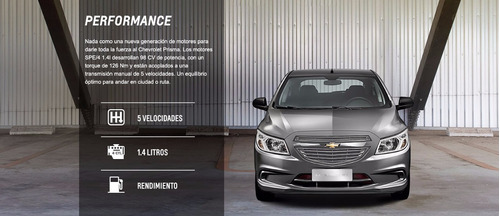 chevrolet prisma 1.4 joy ls + lp