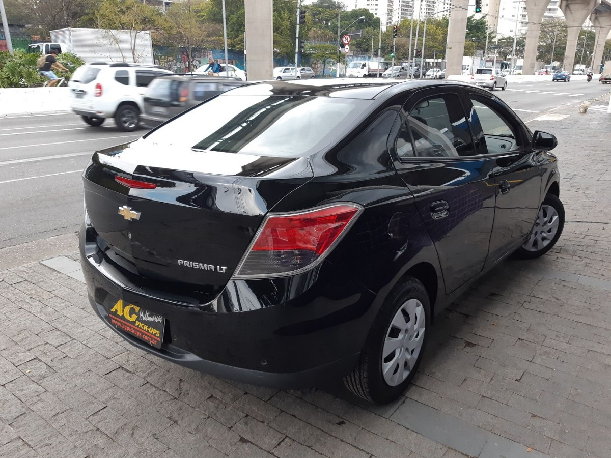 Chevrolet Prisma 1 4 Lt 2015 Preto Completo 42000 Km