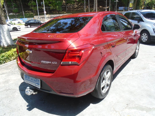 chevrolet prisma 1.4 ltz aut. 2017 vermelho flex - top