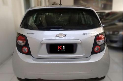 chevrolet sonic 1.6 16v lt aut. 2013 prata