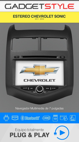 chevrolet sonic android autoestereo gps wifi mirrorlink dvd