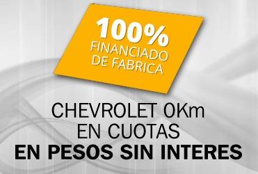chevrolet spin $80000 de adelanto y cuotas fijas 0% interes