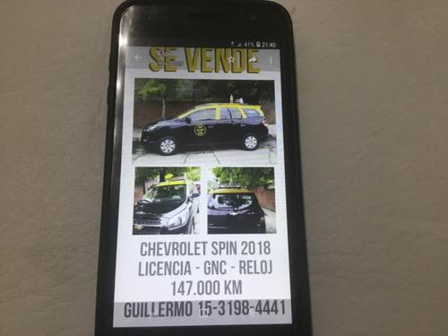 chevrolet spin lt 2018 kms 147000..c/gnc .licencia y reloj.