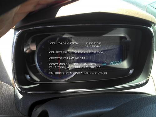 chevrolet trax 1.8 lt 2016 automatica 4 cil *hay credito