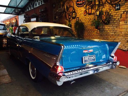 chevrolet/gm belair 1957 coupe garagem retrô