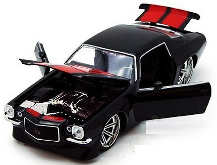 chevy camaro 71 preto 1:24 jada muscle gt dodge ford mustang
