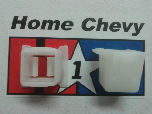 chevy, par de grapas para soporte tras. de faro generica 2pz