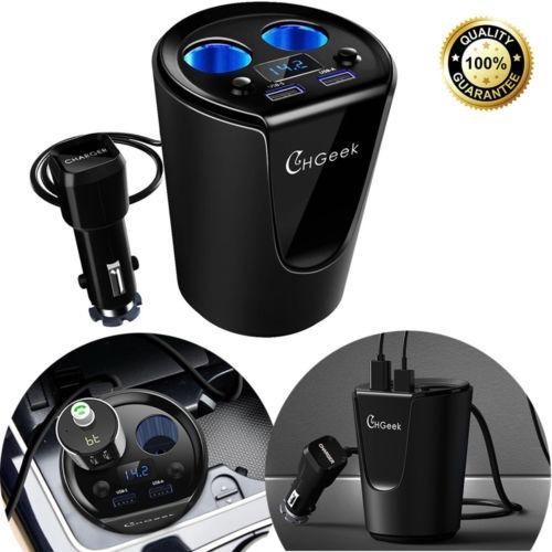 chgeek 2 puerto usb encendedor cargador adaptador de coche s